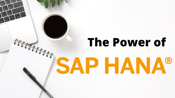 the power of sap hana on white workspace